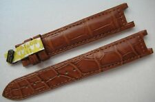 GENUINE CARTIER PASHA WATCH STRAP BAND SMOOTH BROWN ALLIGATOR LEATHER 18/16 NEW