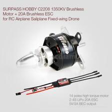 SURPASS HOBBY 2208 1350KV 14 Poles Brushless Motor & 20A ESC 2-4S for RC T8I1