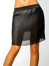 SeXy Miss Trendy luftig leichter Damen Plissee Falten Hüft Rock XS-S NEU  Schwarz 4837491910
