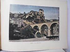 Monaco : Gravure 19° in folio couleur /LA ROUTE DE MONTE- CARLO