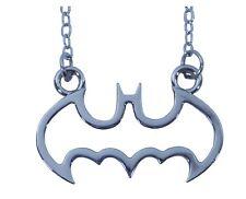 Batman Dark Knight Necklace Cut Out Jewelry Superhero Pendant Stainless DC Comic