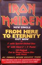 """40x60"""" Bus Shelter Poster~Iron Maiden 1992 Tour From Here to Eternity Nos Orig.~"""