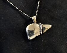Liver Anatomically Correct Hand Made Sterling Silver Pendant