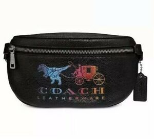 ❤️ Coach Rexy And Carriage 72688 Leather Belt Bag Original Packaging
