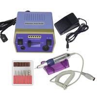 Professional Electric Nail Art Drill Manicure Machine Salon Glazing Kit Set Blue