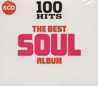 100 HITS - THE BEST SOUL ALBUM - DIONNE WARWICK DRIFTERS TRAMMPS - 5 CDS - NEW!!