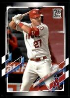 2021 Topps Series 1 Base Black #27 Mike Trout /70 - Angels
