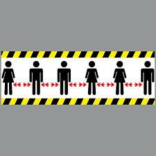 10 Sticker 11 13/16in Distance Distanzierung Social 4061963059654