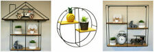 Retro Hanging Wall Shelves Metal Display Unit Home Floating Shelf Storage Rack