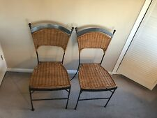Next Metal Framed Wicker Dining Chairs