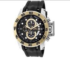 Invicta 19253 Men's I-Force Black/Gold Polyurethane Quartz Chronograph Watch