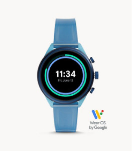 Fossil Sport Touchscreen HR GPS Blue Silicone Strap SmartWatch 41mm FTW6059