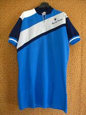 Maillot Cycliste Au tour de France Acrylique 70'S jersey Bleu Vintage - XXL