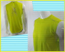 Bcg Mens Workout Exercise Sleeveless Hot Green 100%Polyester T-Shirt Size M