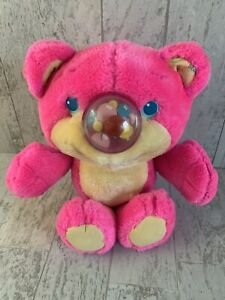 """Vintage 1987 Nosy Bear Funsy Balloon Playskool Hot Pink 11"""" Does Not Inflate"""