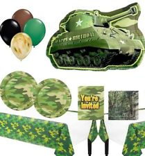 Military Army Camouflage Birthday Party Supplies and Balloons Bundle