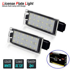 LED License Plate Light 6000K Xenon White for 2006-2016 MK2 MK3 Renault Megane