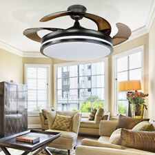 "42"" Ceiling Fan LED Chandelier Light 3 Color Changing Living Room Decor W/Remote"