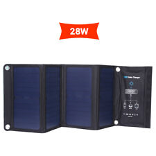 28W Solar Charger Power bank 3 USB Port for Mobile Phone Charging Waterproof