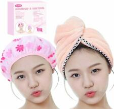 Quick Dry Hair Towel & Shower Cap Gift Set, New in Box Bath & Body Gift Set