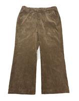 Coldwater Creek Women's Size 16P 16 PETITE Brown Bootcut Corduroy Pants
