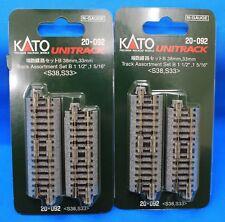 LOT of 2 - N Scale KATO UNITRACK 20-092 Track Assortment Set B  38mm, 33mm