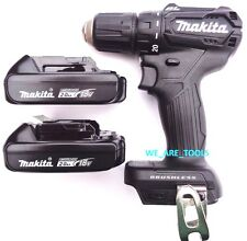 "New Makita 18V XFD11 Brushless 1/2"" Drill Driver, (2) BL1820B Batteries Compact"