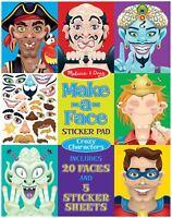 Melissa & Doug MAKE-A-FACE STICKER PAD Crazy Characters Kids Art/Craft  BN