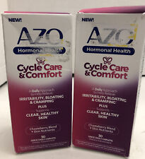 Lot of 2 Azo Cycle Care & Comfort Caplets, 30 Ct. Exp 01/22