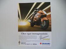 advertising Pubblicità 1999 MOTO SUZUKI HAYABUSA 1300