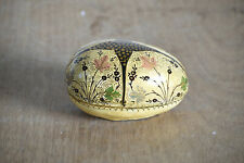 Vintage Egg Shape Paper Mache For Christmas Gift And Decoration Hand Painted Art