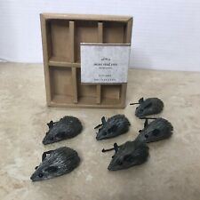 Pottery Barn Mini Sisal Rats Set Of 6 Halloween or Farmhouse Decor