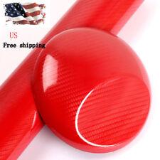"12""x60"" 5D Ultra Shiny Gloss Glossy RED Carbon Fiber Vinyl Wrap Sticker Decal US"