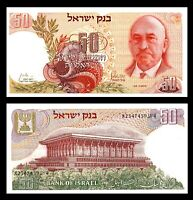 Israel 50 Lirot 1968 (XF+) CRISP Chaim Weizmann Banknote Black P #36