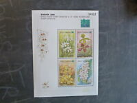 2000 THAILAND ORCHIDS STAMP EXHIB. BANGKOK 4 STAMP MINI SHEET MNH