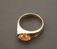 14 K Yellow Gold Oval Citrine Ring Size 6