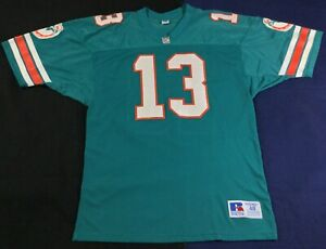 Vintage 90's Miami Dolphins Dan Marino #13 Football-NFL Russell Jersey Size48