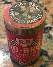 "Scarce 1940's Ro-Bro Inverted Lantern Mantle Cardboard 3"" Tall"