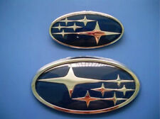 Set 2 NEW Front Rear Subaru Impreza WRX Outback Forester Blue JDM Badges Emblems
