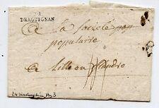 MARQUE POSTALE DRAGUIGNAN / LILLE EN FLANDRE 1794