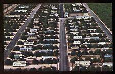 1970's Morningside Mobile Home Park San Juan Texas Travel Trailer Postcard