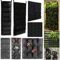 Pocket Planter Outdoor Vertical Garden Wall Planting Hanging Bag for Herb Pot