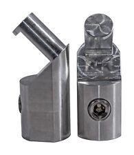 Pair Ill Customz Power / Ground Angled 1/0 to 1/0 Gauge Amp Input Reducers