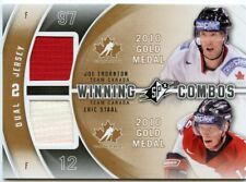 11/12 SPX WINNING COMBOS DUAL JERSEY JOE THORNTON ERIC STAAL CANADA *42407