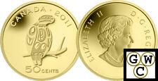 2011 Proof 50-Cent 'Peregrine Falcon' 1/25oz Gold .9999 Fine *No Tax (12914)