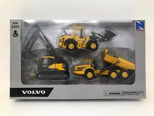 "NEW RAY TOYS VOLVO CONSTRUCTION VEHICLES 5"" SET OF 3 32095"