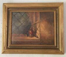 Antique Original Oil Painting Ada Douglas Harmon Still Life 19th Century Ame
