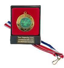 Happy St Patricks Day 40mm Emperor Sports Medal (A) Boxed + Ribbon ENGRAVED FREE