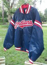 Vintage Starter Cleveland Indians MLB Insulated Satin Jacket Navy Size Men's XL