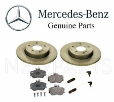 NEW Mercedes W202 C230 Front Solid Brake Disc Rotors with Pads & Sensors Kit OES